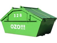 Stavební odpad - směsný - uzavíratelný kontejner 7 m<sup>3</sup>